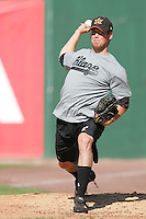 May 26, 2010: Michael Main of the Bakersfield Blaze during game against the Inland Empire 66'ers at Arrowhead Credit Union Park in San Bernardino,CA.  Photo by Larry Goren/Four Seam Images