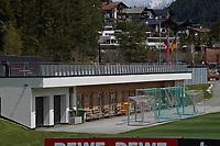 Umzäuntes und blickdicht abgeschirmtes Trainingsgelände - Seefeld 25.05.2021: Trainingslager der Deutschen Nationalmannschaft zur EM-Vorbereitung