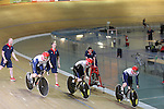 Team GB Track Cycling..Mens Sprint team L-R: Sir Chris Hoy, Jason Kenny and Philip Hindes..19.07.12.©Steve Pope