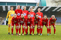 Woluwe players pictured before a female soccer game between FC Femina WS Woluwe and RSC Anderlecht Women on the eight match day of the 2020 - 2021 season of Belgian Women's Super League , Sunday 22nd of November 2020  in Woluwe, Belgium . PHOTO SPORTPIX.BE | SPP | SEVIL OKTEM