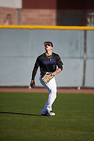 Cody Wagner (9) of Magnolia High School in Magnolia, Texas during the Baseball Factory All-America Pre-Season Tournament, powered by Under Armour, on January 13, 2018 at Sloan Park Complex in Mesa, Arizona.  (Mike Janes/Four Seam Images)