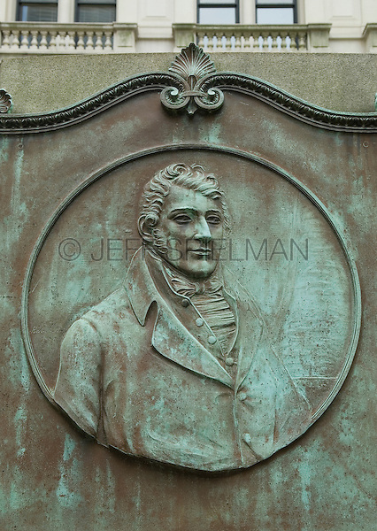 Grave of American Engineer and Inventor Robert Fulton (1755-1815) in the Trinity Church Churchyard, Broadway near Wall Street, Lower Manhattan, New York City, New York State, USA.<br /> <br /> Robert Fulton is widely creditted with developing the world's first commercially successful steamboat.