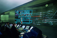 Stazione Termini a Roma. ACS L'Apparato Centrale Statico  è il centro di controllo della stazione, completamente di natura elettronica e computerizzata..Termini,central station in Rome. CSA.The central static apparatus is the control center of the station, completely electronics and computerized.....