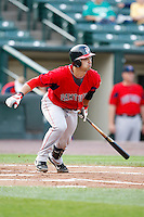 July 22, 2009:  Catcher Mark Wagner of the Pawtucket Red Sox during a game at Frontier Field in Rochester, NY.  Pawtucket is the Triple-A International League affiliate of the Boston Red Sox.  Photo By Mike Janes/Four Seam Images