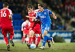 St Johnstone v Brechin....22.03.11  Scottish Cup Quarter Final replay.Danny Invincibile and Ewan Moyes.Picture by Graeme Hart..Copyright Perthshire Picture Agency.Tel: 01738 623350  Mobile: 07990 594431