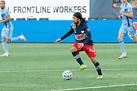 FOXBOROUGH, MA - SEPTEMBER 19: Lee Nguyen #42 of New England Revolution during a game between New York City FC and New England Revolution at Gillette on September 19, 2020 in Foxborough, Massachusetts.