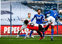 31st October 2020; The Kiyan Prince Foundation Stadium, London, England; English Football League Championship Football, Queen Park Rangers versus Cardiff City; Ilias Chair of QPR striking and scoring but goal was waved off