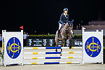 Michelle Li of Hong Kong riding Fiona DEcaussinnes competes in the HKJC Junior Trophy during the Longines Masters of Hong Kong at AsiaWorld-Expo on 11 February 2018, in Hong Kong, Hong Kong. Photo by Ian Walton / Power Sport Images