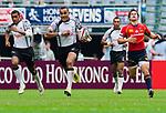 Spain play Fiji on Day 2 of the Cathay Pacific / HSBC Hong Kong Sevens 2013 on 23 March 2013 at Hong Kong Stadium, Hong Kong. Photo by Aitor Alcalde / The Power of Sport Images