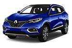 2019 Renault Kadjar Intens 5 Door SUV Angular Front stock photos of front three quarter view