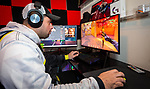 MERIDEN, CT-010721JS08- Michael Leonardi, a member of the U.S. Army's ESports team, plays the game Valorant, a multiplayer tactical firsts-person game,  in his game room of his home in Meriden on Thursday. Leonardi is a professional gamer enrolling in Post University's new Bachelor of Science for ESports Management program that is expected to begin in 2021. <br /> Jim Shannon Republican-American