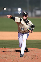 March 7, 2010:  Pitcher Chase Bradford (19) of the Central Florida Knights during game at Jay Bergman Field in Orlando, FL.  Central Florida lost to Central Michigan by the score of 7-4.  Photo By Mike Janes/Four Seam Images