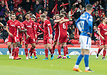 Aberdeen v St Johnstone…14.09.19   Pittodrie   SPFL<br />Ryan Hedges celebrates Aberdeen's goal<br />Picture by Graeme Hart.<br />Copyright Perthshire Picture Agency<br />Tel: 01738 623350  Mobile: 07990 594431