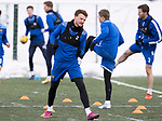 St Johnstone Training…<br />James Brown pictured during training ahead of Sundays game against Celtic.<br />Picture by Graeme Hart.<br />Copyright Perthshire Picture Agency<br />Tel: 01738 623350  Mobile: 07990 594431