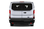 Straight rear view of 2021 Ford Transit XLT 4 Door Passenger Van Rear View  stock images