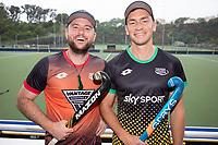 Leon Hayward and Jacob Smith. Hockey Premier League Official Launch, Auckland Grammar Hockey Turf, Auckland, New Zealand. Photo: Simon Watts/www.bwmedia.co.nz/HockeyNZ