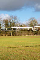 Applying suspension fertilser onto winter barley - Norfolk, February