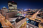 City of Dayton Ohio, Skyline of Dayton Ohio, Cityscape of Dayton Ohio, Night View of Downtown Dayton Ohio, Main Street & Third St. First Place Scenic (pro) in Dayton in Focus Photo contest