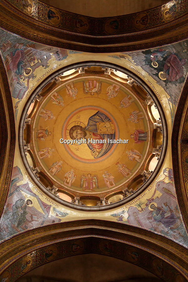 Israel, Jerusalem Old City, the dome of the Katholikon, the Church of the Holy Sepulchre. Easter 2005<br />