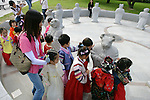 School Children with Statues, Gyeongbok Palace