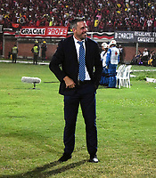 CÚCUTA - COLOMBIA, 26-11-2018:Lucas Pusineri director técnico del Cúcuta Deportivo.Acción de juego entre los equipos Cúcuta Deportivo y  el Unión Magdalena  durante la Final del Torneo Águila 2018 jugado en el estadio General Santader de la ciudad de Cúcuta ./ Lucas Pusineri coach of Cucuta Deportivo.Action game between teams Cucuta Deportivo and Union Magdalena  during the Final of the 2018 Aguila  Tournament played at the General Santander Stadium in the city of Cucuta.  Photo: VizzorImage / Manuel Hernández / Contribuidor