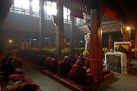 Images from the Book Journey Through Colour and Time, prayer time inside the Monestary and temple