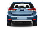 Straight rear view of a 2015 Toyota Auris Dynamic 5 Door Hatchback Rear View  stock images