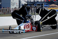 Sept. 4, 2010; Clermont, IN, USA; NHRA top fuel dragster driver Rod Fuller during qualifying for the U.S. Nationals at O'Reilly Raceway Park at Indianapolis. Mandatory Credit: Mark J. Rebilas-
