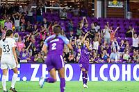 Orlando, FL - Saturday October 12, 2019: Marta Vieira da Silva celebrates her goal , Orlando Pride vs Reign FC at Exploria Stadium.