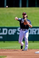 25 February 2019: Atlanta Braves infielder Charlie Culberson warms up prior to a pre-season Spring Training game against the Washington Nationals at Champion Stadium in the ESPN Wide World of Sports Complex in Kissimmee, Florida. The Braves defeated the Nationals 9-4 in Grapefruit League play in what will be their last season at the Disney / ESPN Wide World of Sports complex. Mandatory Credit: Ed Wolfstein Photo *** RAW (NEF) Image File Available ***