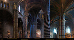 Architectural Detail, Right Aisle, Gothic Arches in Chancel, Gothic Ribbed Vault in Left Transept, Cathedral of Siena, Santa Maria Assunta, Siena, Italy