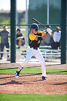 Bryce Matthews (14) of Chaparral High School in Parker, Colorado during the Baseball Factory All-America Pre-Season Tournament, powered by Under Armour, on January 13, 2018 at Sloan Park Complex in Mesa, Arizona.  (Zachary Lucy/Four Seam Images)