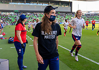 AUSTIN, TX - JUNE 16: Tobin Heath #17 of the USWNT leaves the field before a game between Nigeria and USWNT at Q2 Stadium on June 16, 2021 in Austin, Texas.