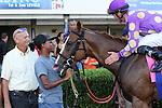 July 12, 2014: Sing Praises (FL) with jockey Ramsey Zimmerman on board wins the Birdonthewire Stakes at Gulfstream Park in Hallandale Beach FL. Liz Lamont/ESW/CSM