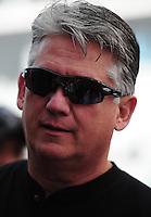 Feb. 19, 2012; Chandler, AZ, USA; NHRA pro stock driver Rodger Brogdon during the Arizona Nationals at Firebird International Raceway. Mandatory Credit: Mark J. Rebilas-