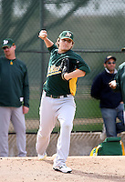 Jared Lansford - Oakland Athletics - 2009 spring training.Photo by:  Bill Mitchell/Four Seam Images