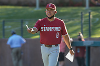 STANFORD, CA - JUNE 6: David Esquer before a game between UC Irvine and Stanford Baseball at Sunken Diamond on June 6, 2021 in Stanford, California.