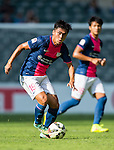Yang Huang of Kitchee in action during the HKFA Premier League between South China Athletic Association vs Kitchee at the Hong Kong Stadium on 23 November 2014 in Hong Kong, China. Photo by Aitor Alcalde / Power Sport Images