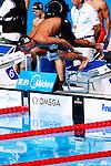 Shinri Shioura (JPN),<br /> JULY 28, 2013 - Swimming : Shinri Shioura of team Japan starts in the men's 4x100m freestyle heat during the World Swimming Championships at the Sant Jordi arena in Barcelona, Spain.<br /> (Photo by Daisuke Nakashima/AFLO)