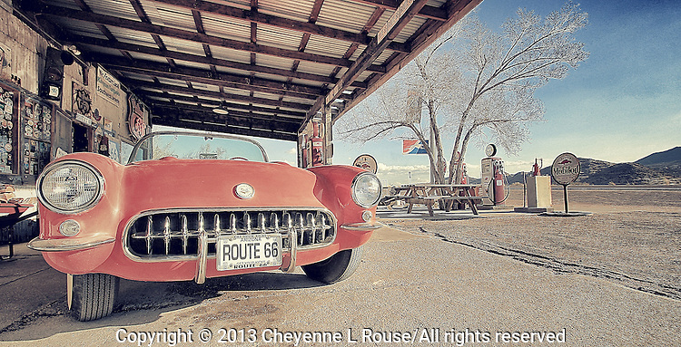 Gettin' my Kicks on Rt 66 - Arizona - Corvette