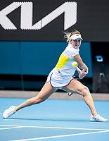 8th February 2021, Melbourne, Victoria, Australia;  Anastasia Pavlyuchenkova of Russia returns the ball during round 1 of the 2021 Australian Open on February 8 2020