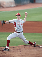 Adam Conley #29 of the Washington State Cougars pitches against the Arizona State Sun Devils on April 15, 2011 at Packard Stadium, Arizona State University, in Tempe, Arizona. .Photo by:  Bill Mitchell/Four Seam Images.