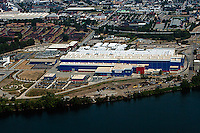 aerial photograph Alstrom manufacturing center Chattanooga, Tennessee