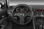 Steering wheel view of a 2008 Mazda 6 Sport Sedan
