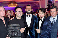 """RedOne, Nadir Khayat, Song Yin-Xi<br /> Private music evening with RedOne. The Hotel """"Four Seasons"""". Moscow, Russia - 18 Dec 2020<br /> CAP/PER/EN<br /> ©EN/PER/Capital Pictures"""