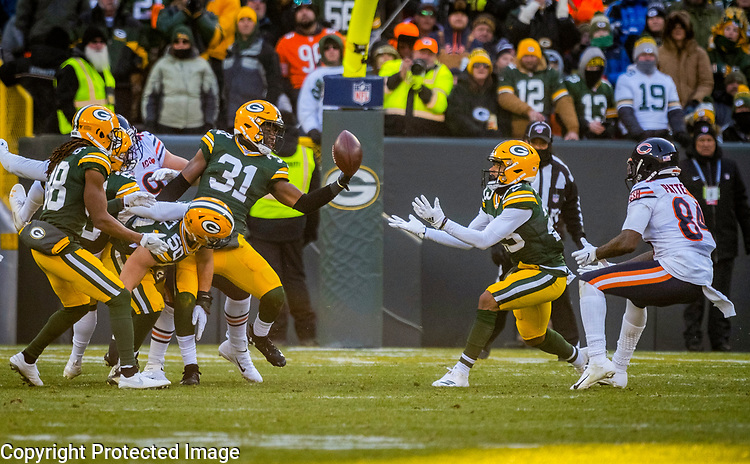 Green Bay Packers against the Chicago Bears during a regular season game at Lambeau Field in Green Bay on Sunday, December 15, 2019.
