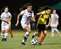 Lakewood Ranch, FL - Wednesday, October 10, 2018:   Hunter Smith during a U-17 USWNT match against Colombia.  The U-17 USWNT defeated Colombia 4-1.