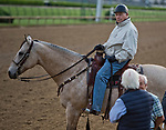 LOUISVILLE, KY - MAY 03: D. Wayne Lukas watches as Bob Baffert and Jerry Hollendorfer talk during morning workouts in preparation for the Kentucky Derby and Oaks at Churchill Downs on May 3, 2018 in Louisville, Kentucky. (Photo by Scott Serio/Eclipse Sportswire/Getty Images)