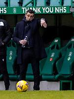 6th February 2021; Easter Road, Edinburgh, Scotland; Scottish Premiership Football, Hibernian versus Aberdeen; Jack Ross Hibernian Manager