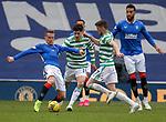 02.05.2121 Rangers v Celtic: Steven Davis with Mikey Johnston and Ryan Christie